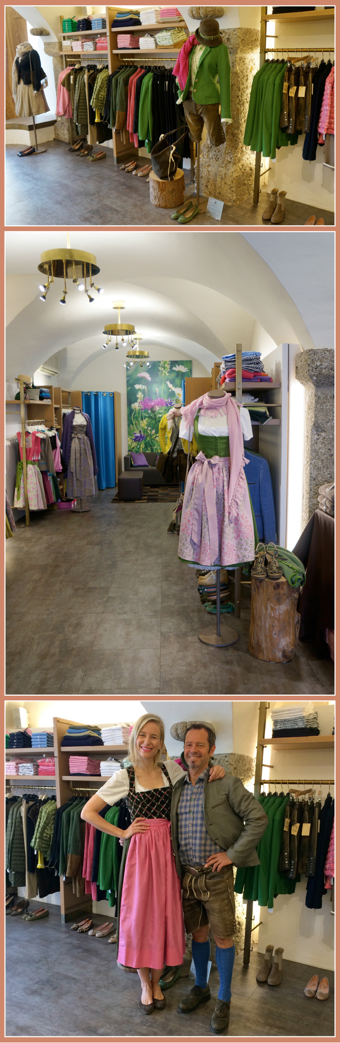 Forstenlechner una de las tiendas mas famosas de la ciudad de ropa austríaca. Otra tienda que destaca por el cuidado artesanal en la elaboración de cada una de sus piezas es Jahn-Markl en Residenzplatz 3