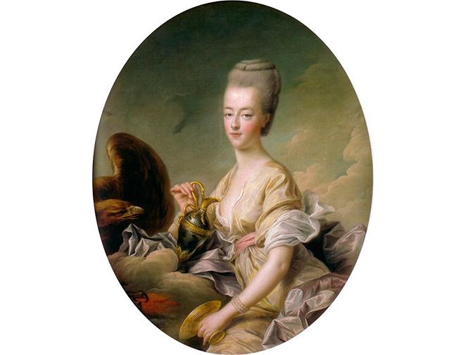 Françoise- Hubert Drouais, Maria Antonieta delfina de Francia, retratada como Hebe. 1773. Museo Condé. Castillo de Chantilly