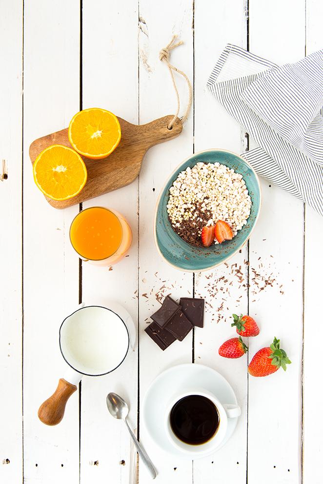 Desayuno para estudiantes o esfuerzo intelectual