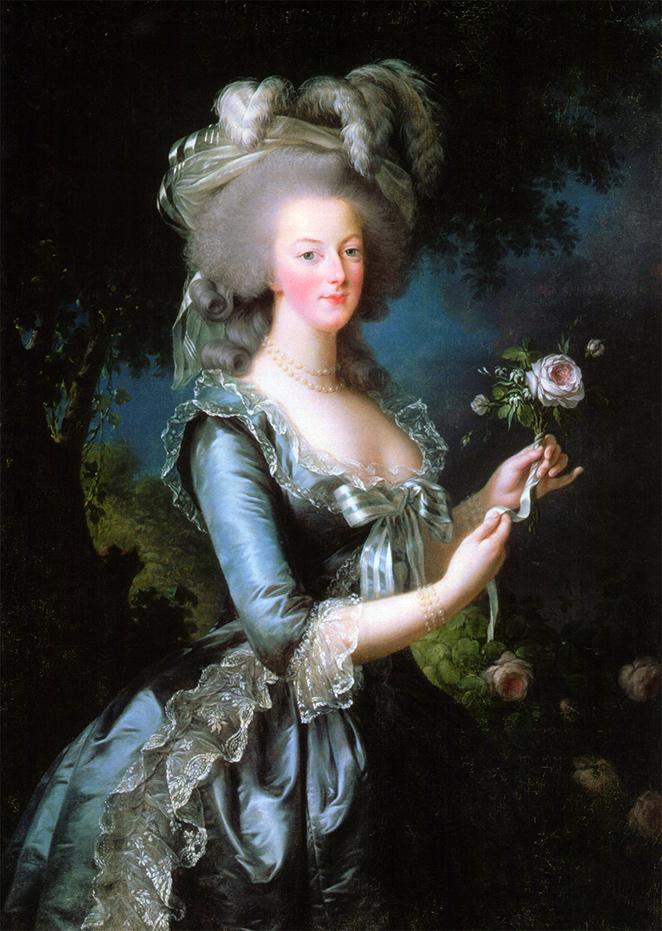 Elisabeth Vigée Le Brun. María Antonieta con una rosa. 1783. Palacio de Versalles