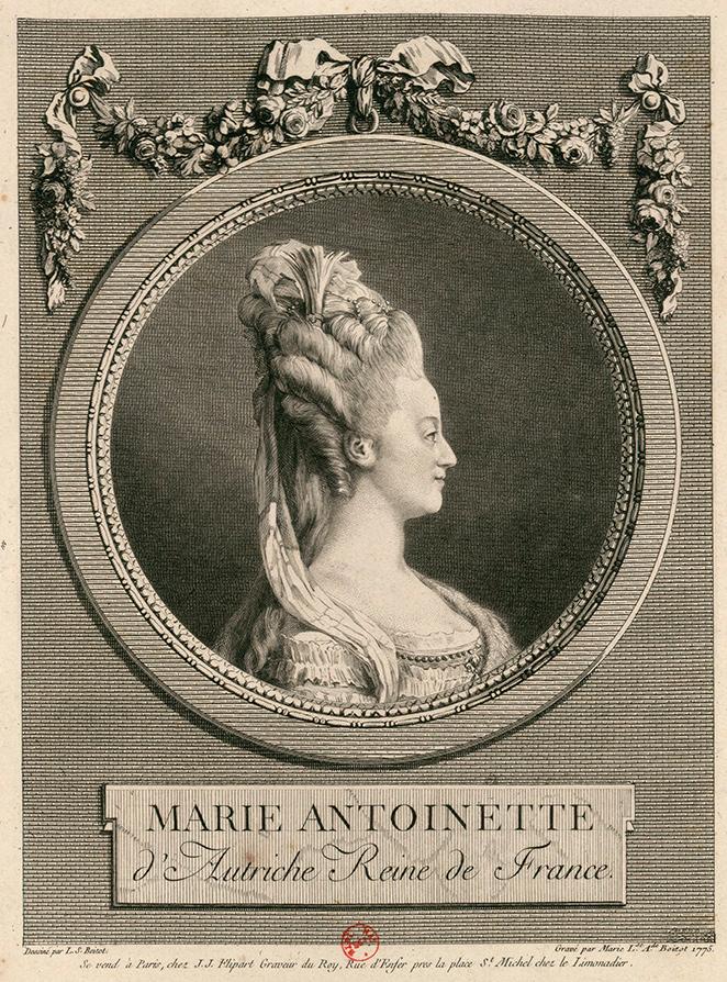 Marie-Louise-Adélaïde Boizot. María Antonieta de Austria, Reina de Francia. 1775. Biblioteca Nacional de Francia