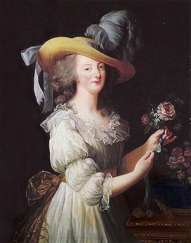 Elisabeth Vigée-Lebrun. La reina María Antonieta con una rosa. 1783. Palacio de Versalles