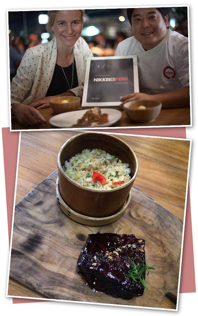 Maido es mi restaurante favorito (diría que del mundo!!) donde puedes disfrutar de cocina fusión japonesa-peruana. Uno de los platos estrella es el asado de tira con jugosísima carne, los tiraditos y el sashimi de erizo. Conocí a su dueño, el Chef Mitsuharu que me mostró personalmente el fantástico libro que ha escrito y donde comparte las recetas de algunos de sus soberbios platos