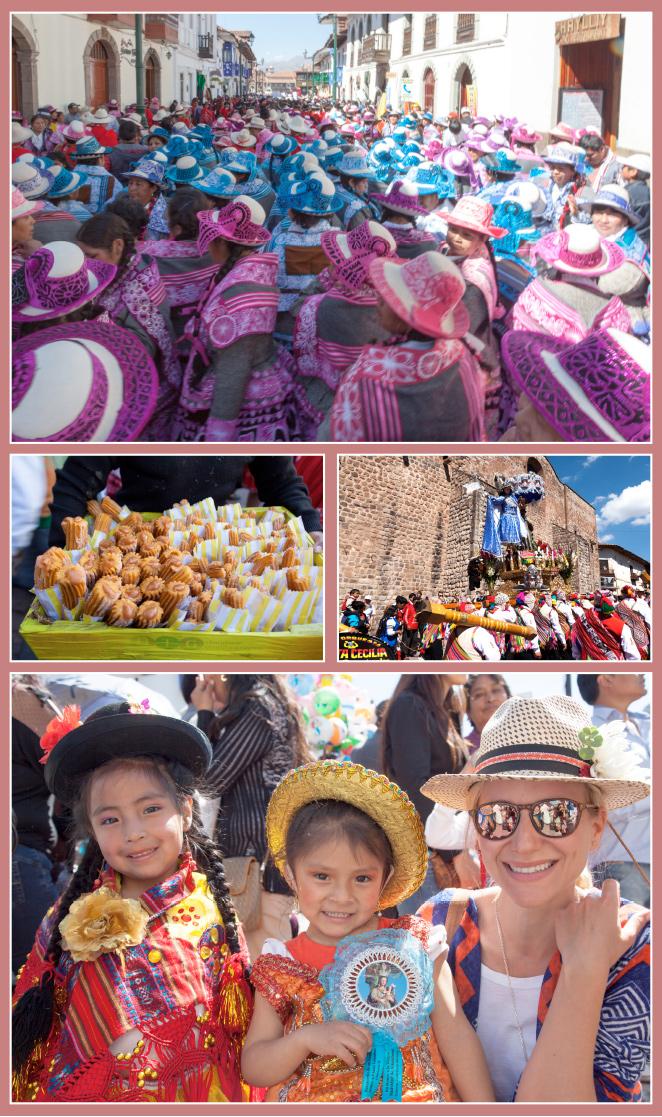 Durante nuestra estancia en Cuzco tuvimos la suerte de coincidir en época de fiestas que es la más bonita y animada. Me encantó ver como la gente sale a la calle vestida de manera especial con sus trajes regionales y se organizan bailes continuamente. Estas fiestas se celebran durante todo el mes de Junio y se hacen prepararse para el gran día de la Fiesta del Sol que actualmente se celebra el 24 de Junio y era tradición de los Incas