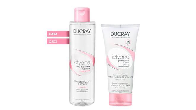 Agua micelar y gel limpiador Ictyane de Ducray