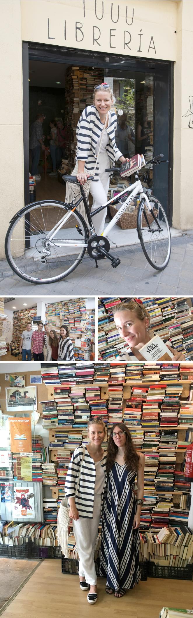 Tuuu Librería. Ya un poco más alejada, en la calle Covarrubias, paramos en esta singular librería cuya premisa se basa en fomentar la importancia de la lectura pero de una manera sostenible. Es un espacio donde cada uno puede coger los libros que le apetezca leer a cambio de un donativo y, por otro lado, esos libros que ya hemos leído y de los que nos hemos cansado, se pueden entregar allí mismo también