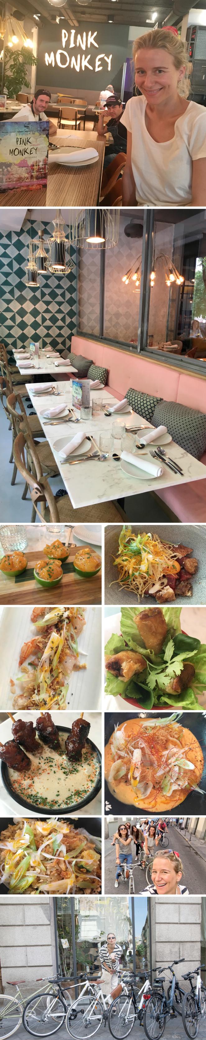 Pink Monkey. Nuevo restaurante del conocido chef, Jaime Renedo, y donde se puede disfrutar de una cocina fusión peruana-oriental con toques mexicanos