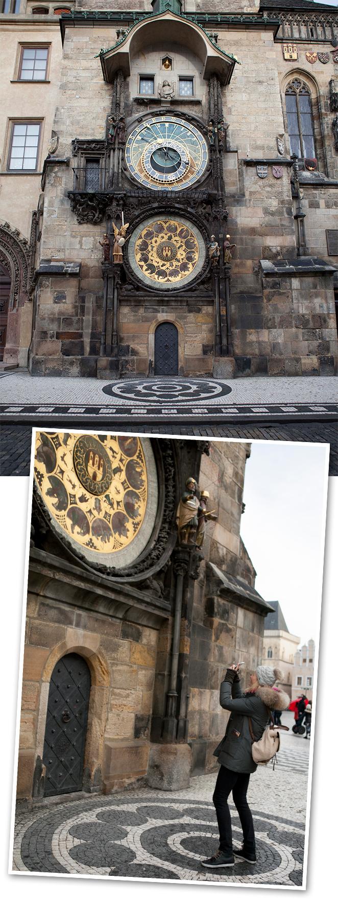 Famoso reloj astronómico del Viejo Ayuntamiento
