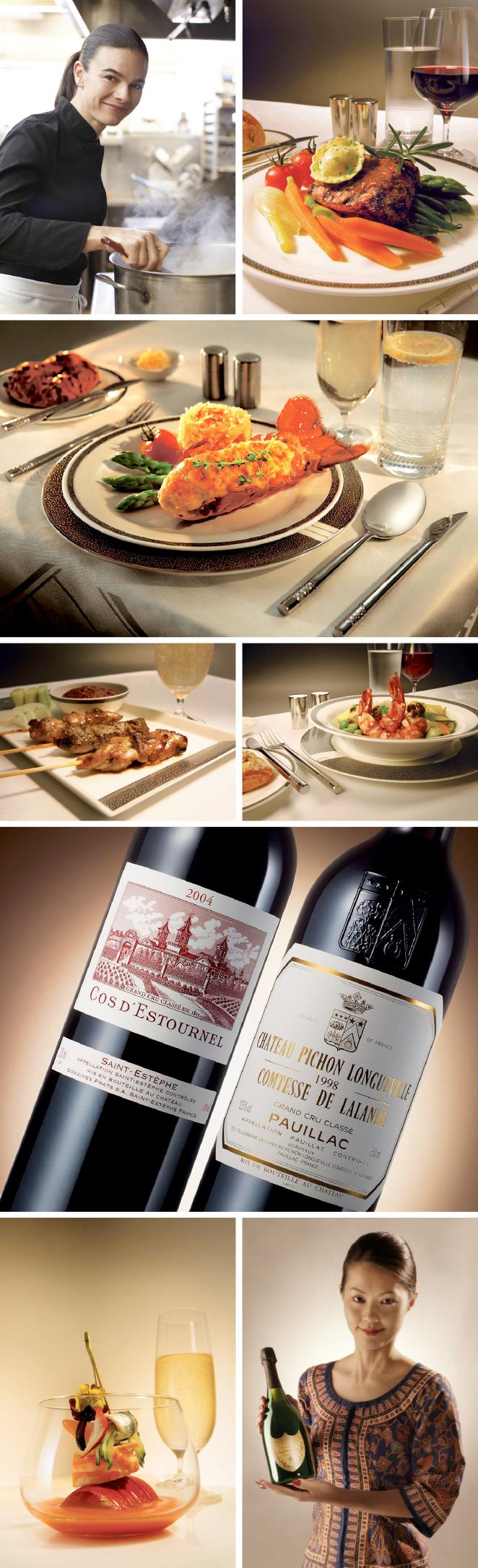 La tripulación está muy bien entrenada en el arte de servir la mesa, hace que el servicio de catering de Singapore Airlines sea todo un lujo