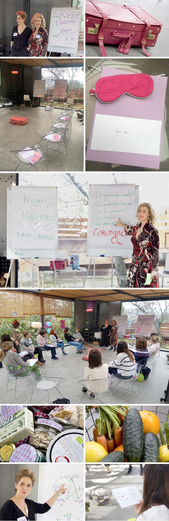 Las encargadas de dirigir el taller motivacional del que formamos parte fueron Blanca Holanda (Entrenadora Neuro-Motivacional y Escritora) y Mercedes Torre (Periodista y Terapeuta en Medicina Tradicional China). Ellas nos ayudaron, con gran maestría, a descubrir algunas de las claves más importante del bienestar.