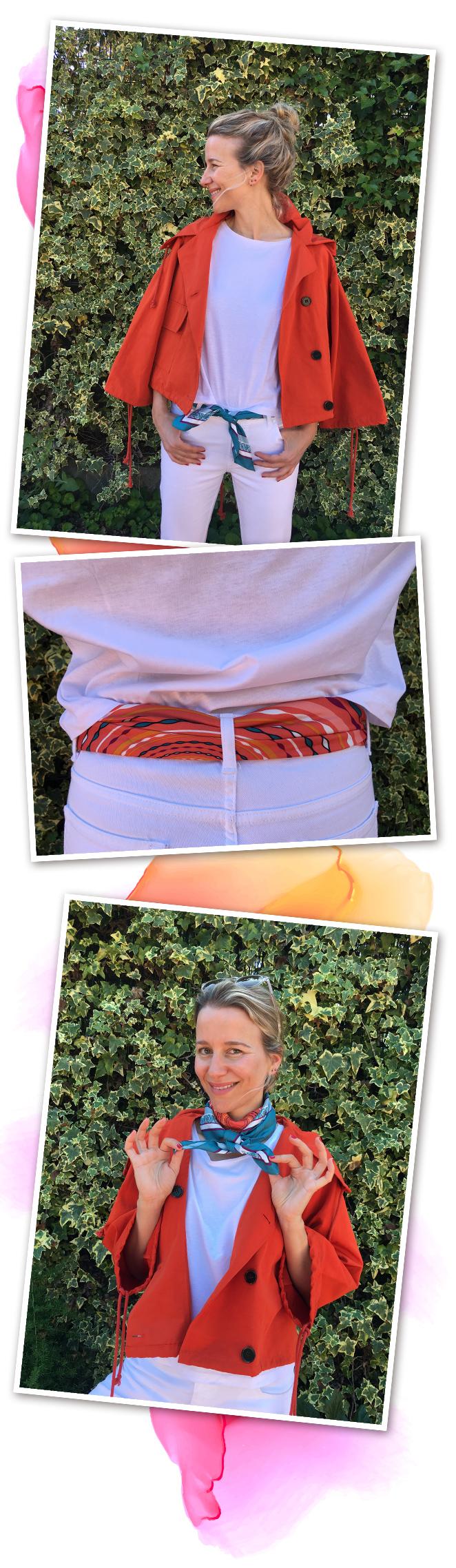 También puedes usar este pañuelo tan ideal como cinturón, como pulsera o atado al cuello para darle un toque especial a tu estilismo