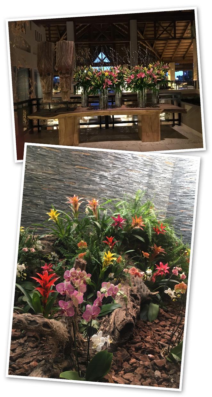 Hablando del relax, en Asian Gardens se encuentran por doquier las mandalas, tallas que invitan a la conexión cuerpo–mente y que aquí se adornan a diario con decoraciones florales en agua.