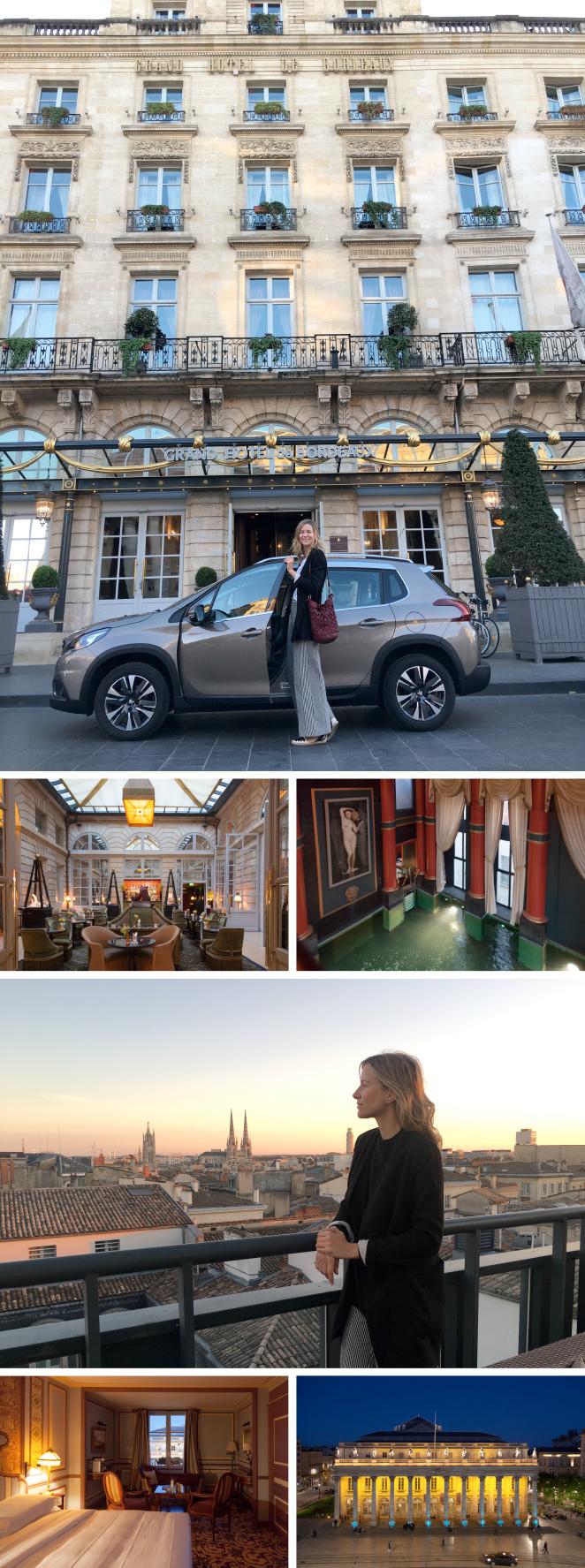 """Sin duda os recomendaría el Hotel Intercontinental Bordeaux Grand Hotel que tiene una ubicación privilegiada, justo enfrente del Teatro y desde donde podréis disfrutar de una de las mejores vistas de la ciudad a la que, por cierto, se la conoce como la """"Pequeña París"""" y fue declarada Patrimonio de la Humanidad en el 2007."""