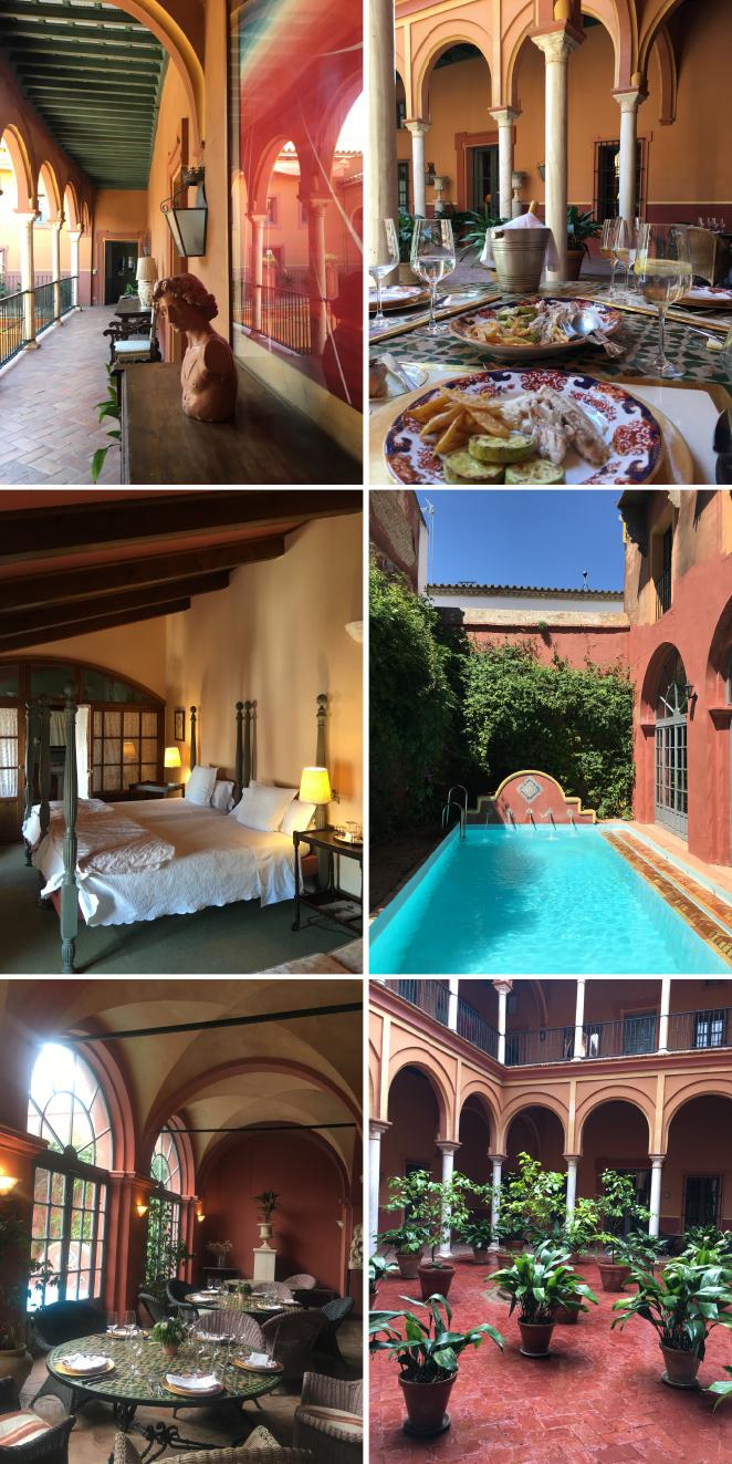 """Allí en Carmona, disfrutamos de una agradable almuerzo en el Hotel """"Casa Palacio Casa Carmona"""" ubicado en un antiguo edificio del S.XVI y que tiene gran encanto."""