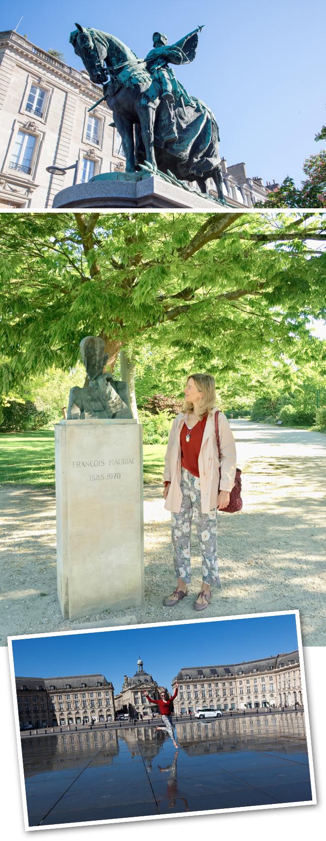 Además, la visita a Burdeos, por exprés que sea, no puede olvidar el CAPC Museo de Arte Contemporáneo, la iglesia de San Luis de los Cartujos, la Catedral de San Andrés, la basílica de San Miguel (el monumento más alto de la ciudad), el monumento de Juana de Arco (una de las grandes mujeres de la historia francesa, cuyo arrojo fue imprescindible para que el rey de Francia conquistase Aquitania) o el Espejo de Agua, el más grande del mundo, ubicado en la Plaza de la Bolsa, que alterna efectos de espejo y niebla.