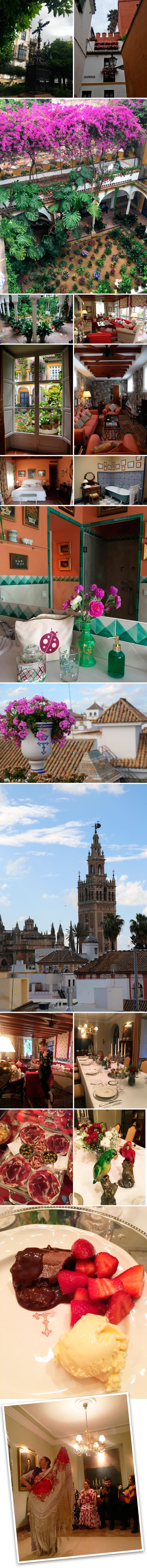 La aventura continúo ya en Sevilla…El lugar que elegí para el alojamiento es, para mí, uno de los más exclusivos de la ciudad. Se trata de la Casa de la Calle Agua que está ubicada en el barrio de la judería, en pleno centro, y bajo mi punto de vista es donde se puede respirar y admirar la belleza de Sevilla en su plena esencia.