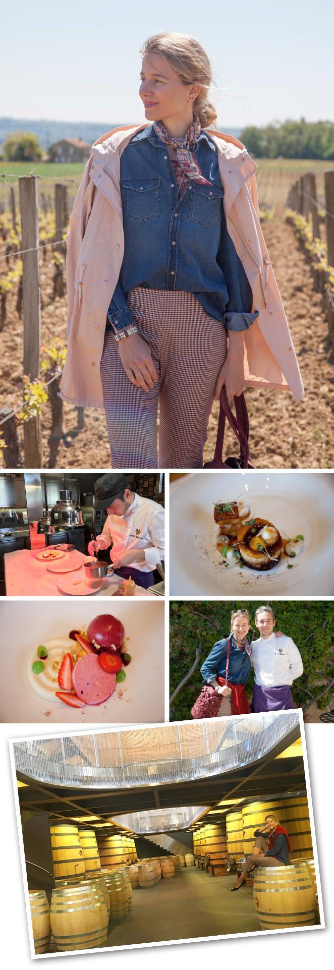 Troplong Mondot que tiene viñedos de agroecología, sin insecticidas ni pesticidas, y están dedicados al enoturismo. De hecho, es el único viñedo de la zona cuyo restaurante, Belles Perdrix, a cargo del chef David Charrier, cuenta con una estrella Michelin.