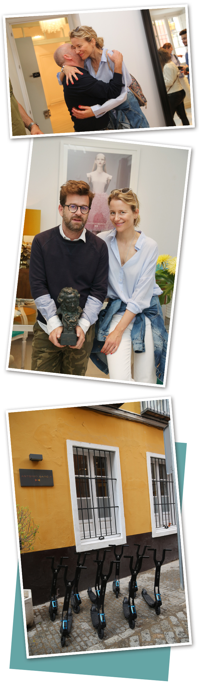 Estuvimos visitando el taller del diseñador Antonio García que junto con su hermano Fernando García, ganador de un Premio Goya por mejor vestuario, formar uno de los dúos con más talento en la moda española. Cada temporada crean colecciones que hacen soñar porque sus vestidos son la perfecta simbiosis entre la atractiva esencia andaluza y un elegante toque contemporáneo.