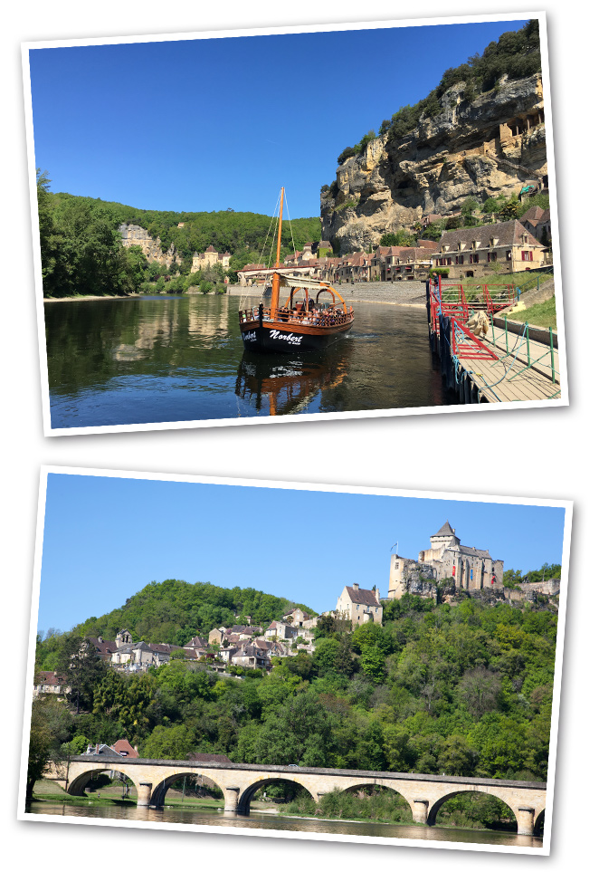 En el Valle de la Dordoña, una experiencia para no perderse es hacer un crucero en gabarra (antigua embarcación) para disfrutar con vistas a los castillos de Berignac, Beynac y los otros castillos que encontramos en el valle.