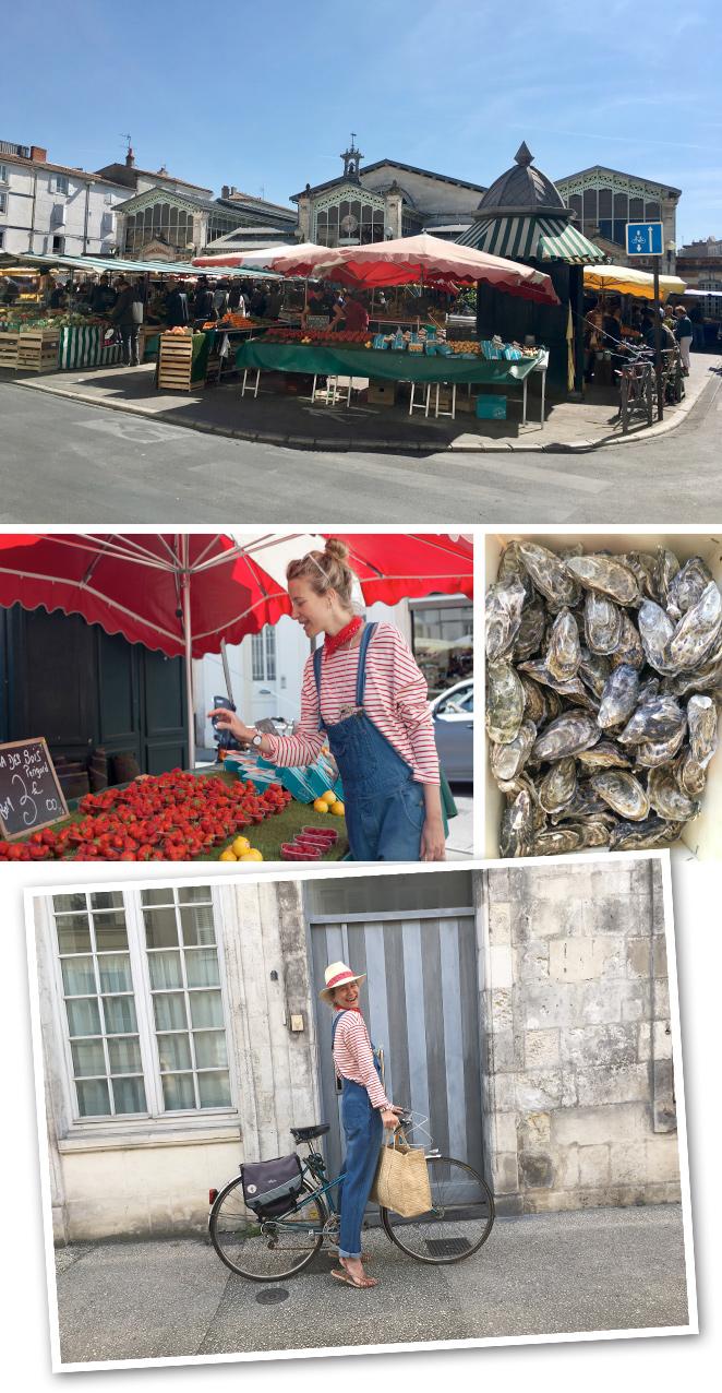 El shopping en La Rochelle es la pera por su toque francés siempre tan chic. La Rue Saint Yon, está repleta de tiendas de diferentes marcas francesas como Des Petits Hauts, Sandro, Majem Kooples, Cuir de Franc o Comptoir des Cottoniers, entre otras. Y para shopping gastronómico, es ideal el Mercado des Halles donde se puede disfrutar de unas buenas ostras en la terraza acompañado de un vasito de vino blanco!!