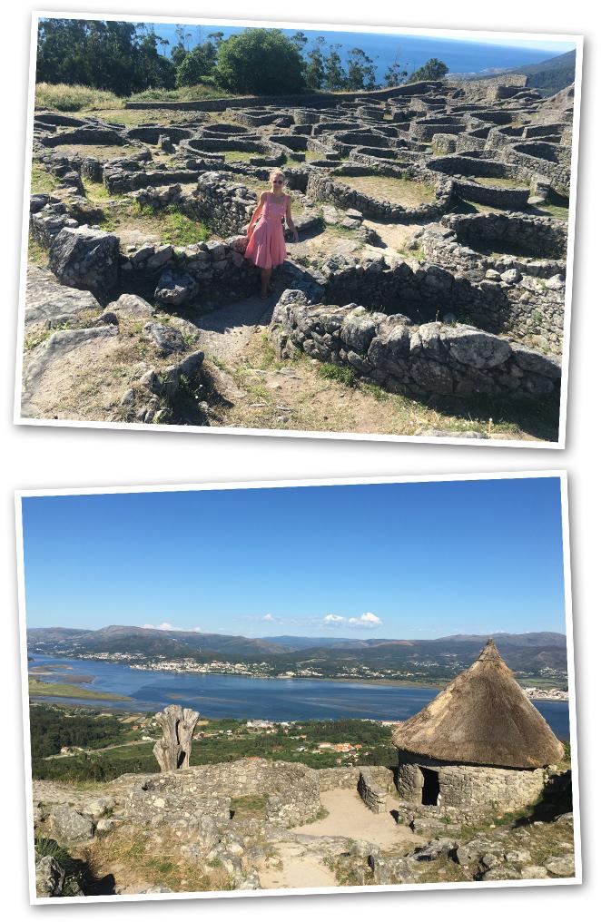 El Castro de Santa Tegra que fue un antiguo pueblo Celta (S.I-II a.C)