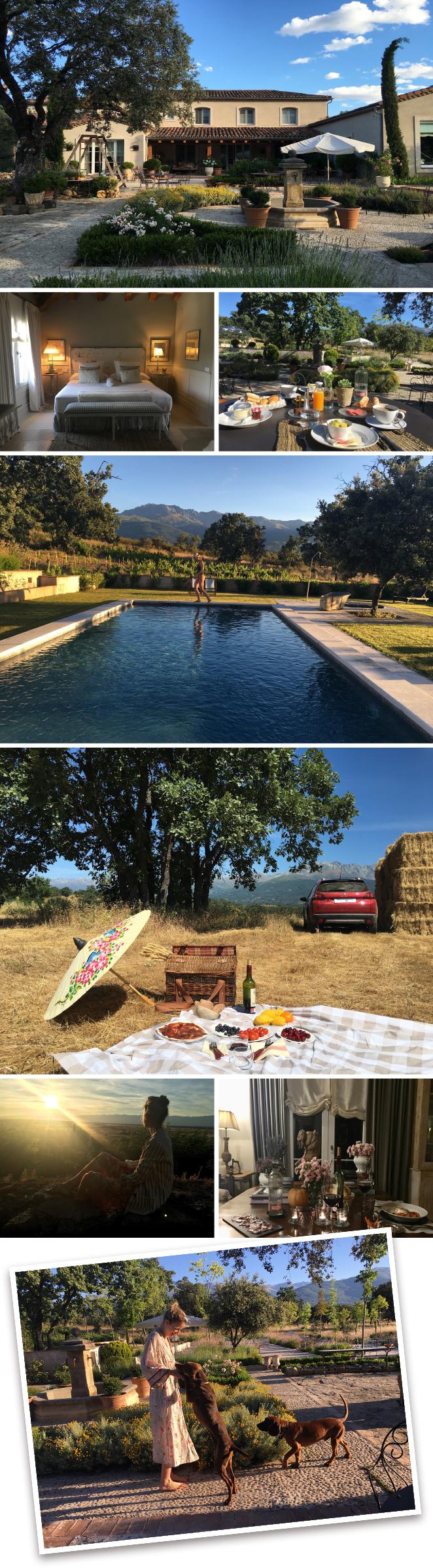 La Casa de los Tomillares en el Valle del Tiétar que es una zona preciosa donde también podréis hacer excursiones interesantes como a la Gruta del Águila.
