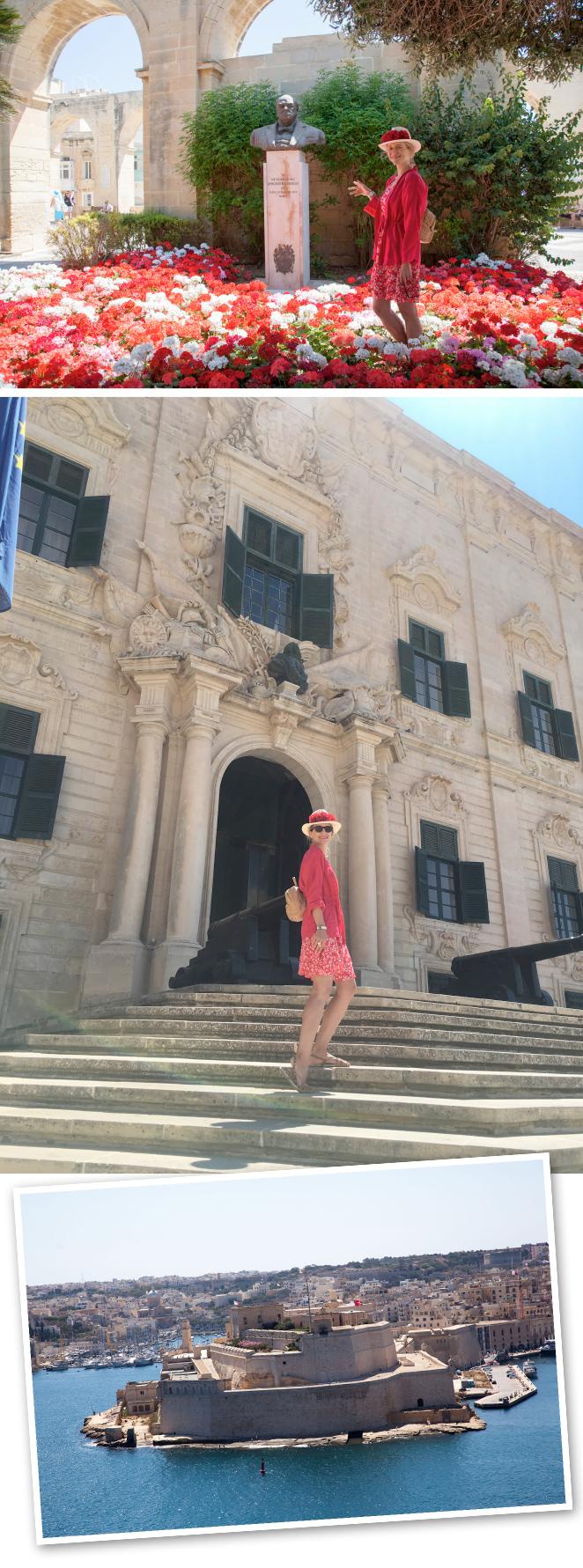 Los Jardines de la Barraca de Arriba que fueron diseñados en 1661 como lugar de descanso para los caballeros italianos. Desde allí se contempla una de las mejores vistas de Malta desde donde se pueden admirar las ciudades de Vittoriosa, Senglea y Cospicua y sus puertos. Hay una gran variedad de plantas exóticas, monumentos, cañones antiguos (que actualmente se utilizan para fiestas populares importantes) y también hay una estatua que conmemora a Sir Winston Churchill.