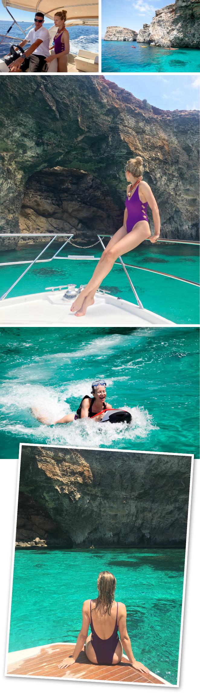 """Excursión en barco a la isla de Comino y de San Pablo para disfrutar de diferentes deportes acuáticos en sus aguas cristalinas. """"Rush Water Sports"""" lo organiza de maravilla."""