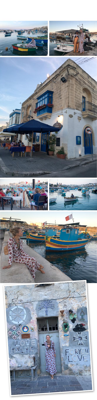 Visita al precioso pueblo de pescadores Marsaxlook. Allí hay un restaurante muy recomendable para cenar que se llama Tartarun donde se puede degustar un pescado de gran calidad cocinado de manera muy especial. La hora del atardecer es la mejor para hacer este apetecible plan.