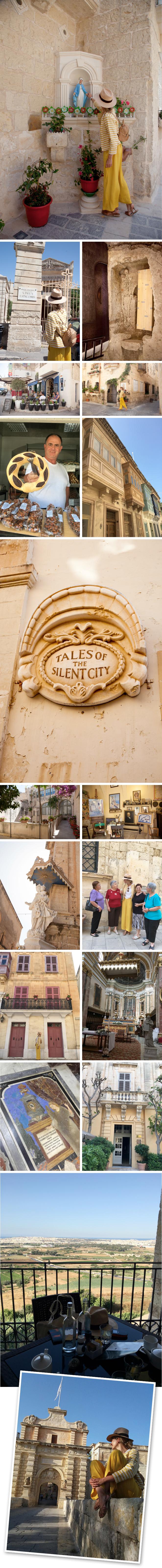 """Visita a Rabat y Medina. Unos de mis lugares favoritos de la isla. Ambas ciudades son muy antiguas y se encuentran muy cerca una de otras (se puede ir a pie!!). En Rabat imprescindible hacer la visita a las Catacumbas (de la época de Bronce), el Museo WignaCourt (que da acceso a la Cueva de San Pablo) y después tomar algo en el mismo Café WignaCourt. En la Medina que es una ciudad que fue construida por los fenicios y a la que se le conoce como la """"Ciudad del Silencio"""" porque no se oye ni una mosca, os recomiendo el Hotel Xara Relais Chateaux (el único que hay!!) el Palazzo Vilhena y el Palazzo Falson."""