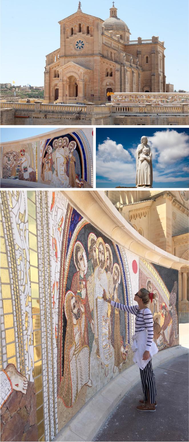 La Basílica de Tapinu que se inauguró en 1920 y donde hay mosaicos del famoso artista Marco Rupnik.