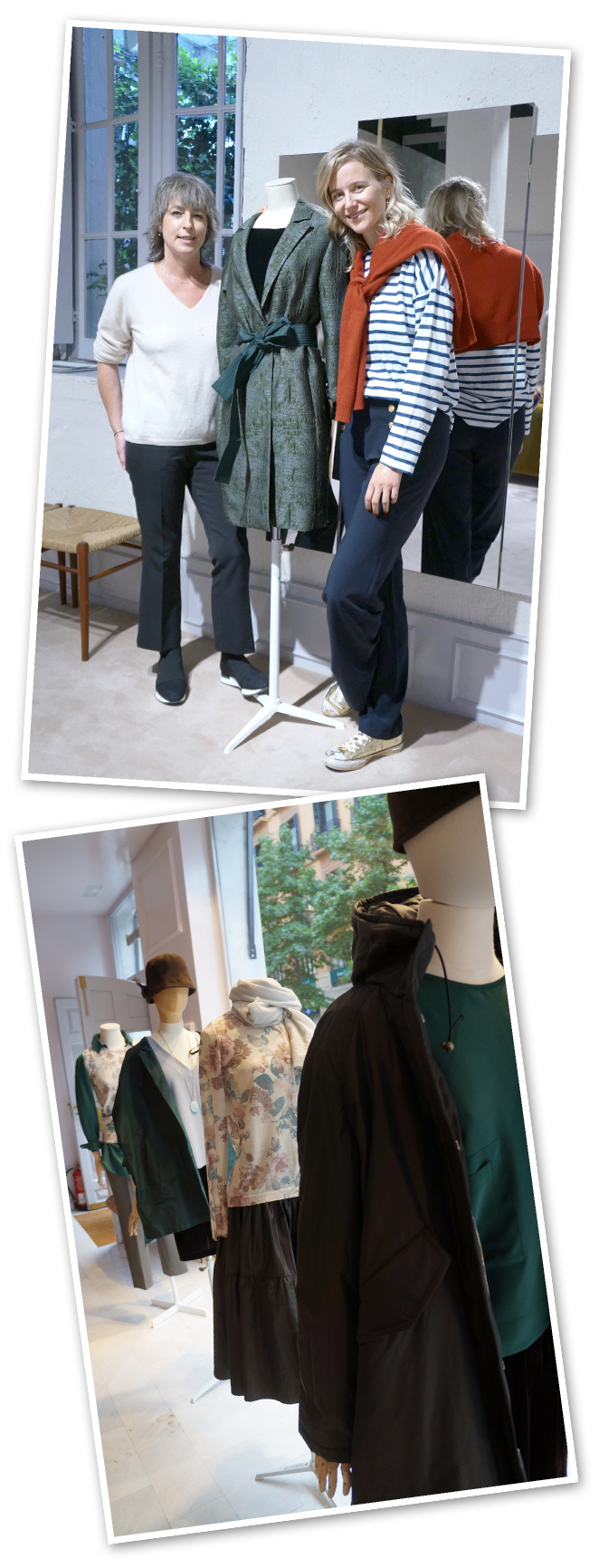 Minimil. Contxu Uzkudun , la diseñadora, reivindica desde entonces la figura de Balenciaga y su influencia en la moda de nuestro país. Abrigos, chaquetas, fulares y txapelas son prendas icónicas de las colecciones de Minimil. Prendas atemporales de New Basque Style de estilo sobrio