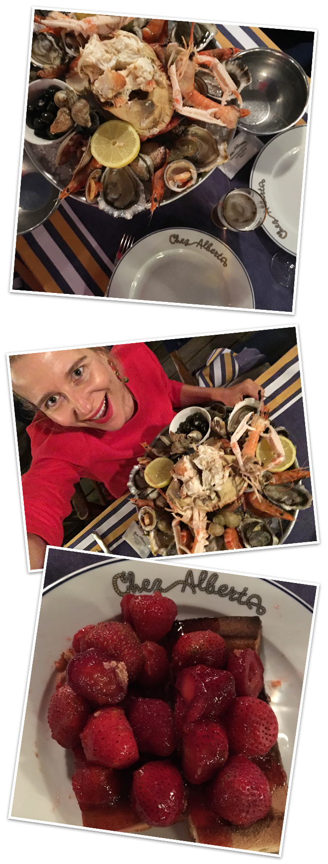 Para una cena especial mi favorito es Chez Albert, que se encuentra en el puerto de Biarritz, y donde podréis tomar marisco y de postre una deliciosa tarta de fresas