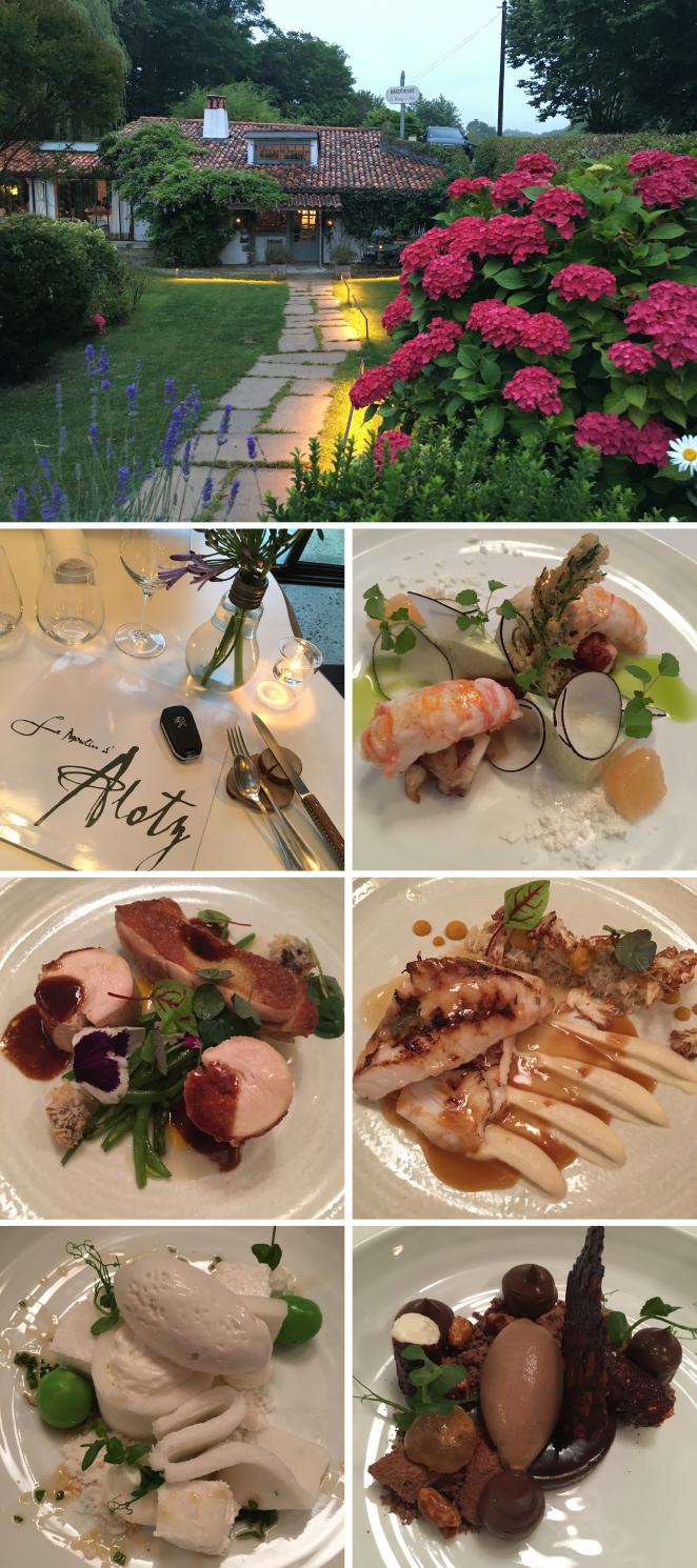 En las afueras de Biarritz, en concreto en el área de Arcangues, os recomiendo Le Moulin D´Alotz un restaurante mágico de cocina contemporánea ubicado en mitad del campo donde podréis disfrutar de una fantástica mezcla de Naturaleza, Cultura y Gastronomía