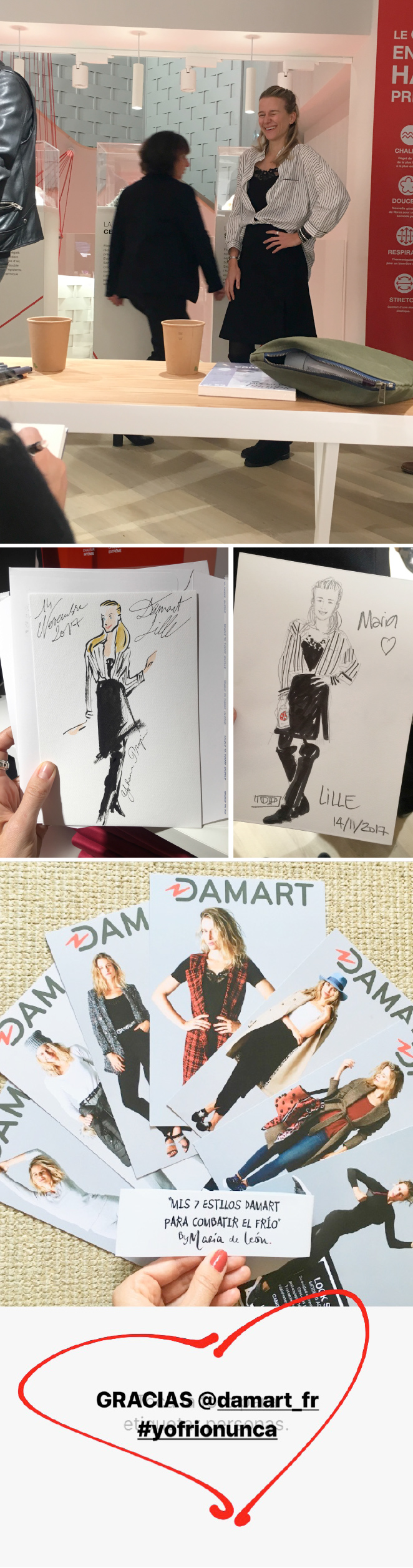 Otra de las sorpresas de la noche, fue tener la ocasión de ser retratada por buenísimos ilustradores como @yohannpropin y @accrodelamode (también colaboradores de esta firma francesa) y en tan solo 5 minutos!!Que arte!!