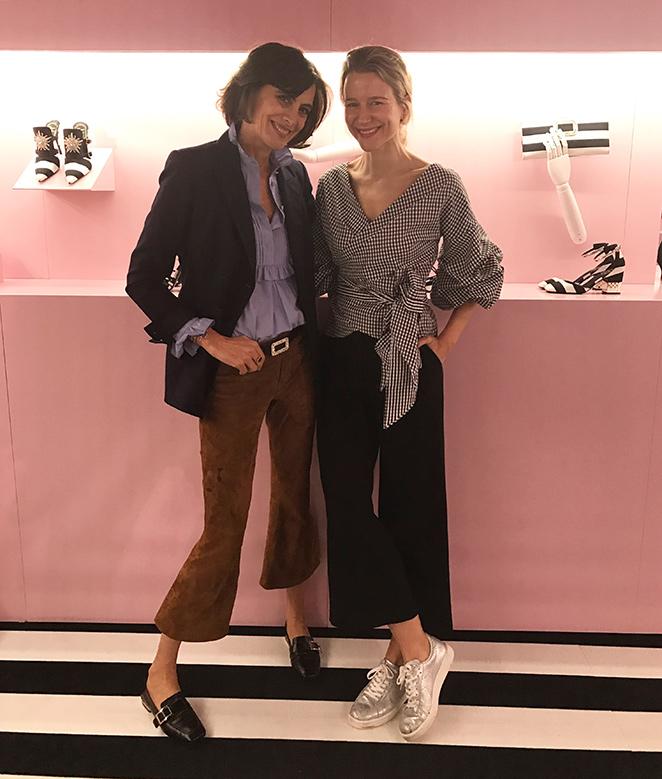 Con Inés de la Fressange, uno de los máximos exponente del chic parisino