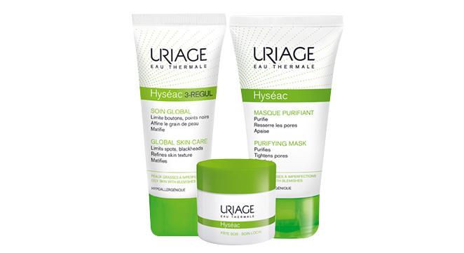 Gama Hyséac de laboratorios Dermatológicos Uriage