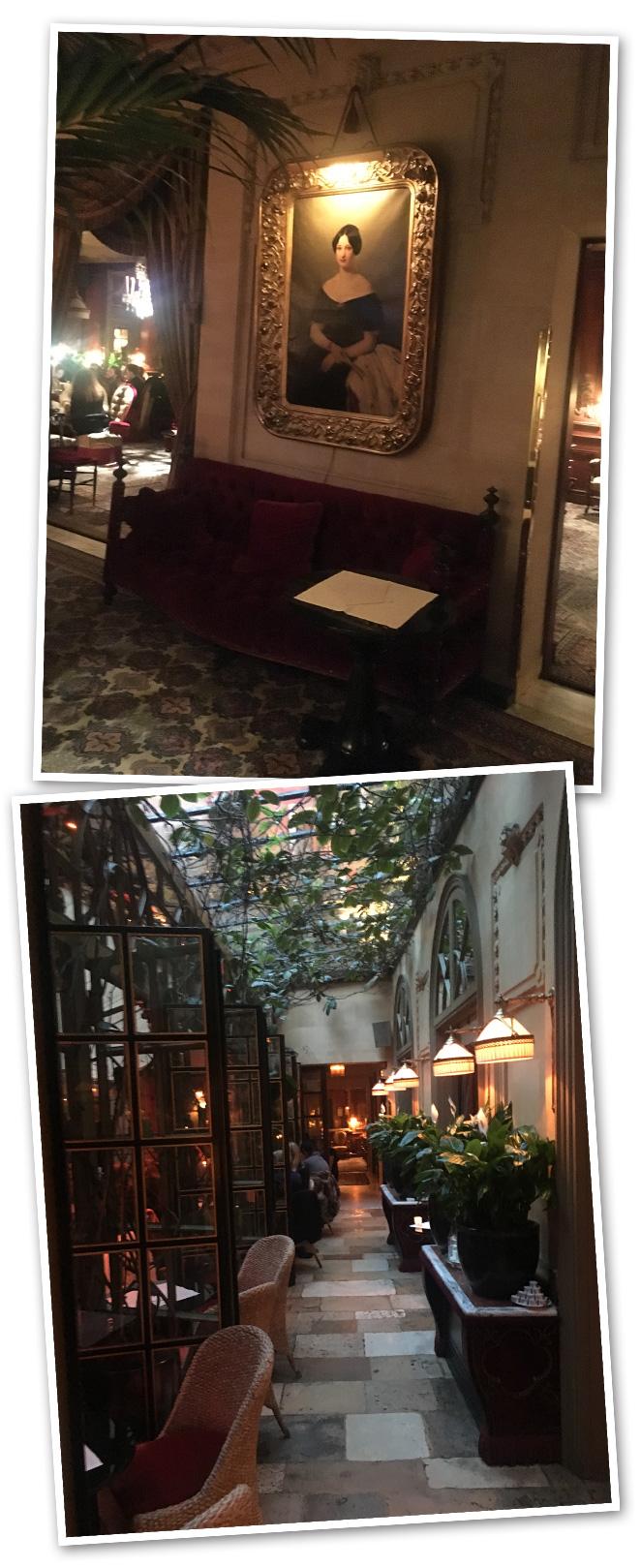 Otro hotel al que me gusta ir cuando estoy en París, pero tan sólo para comer o tomar un café por disfrutar del ambiente parisino con estilo es el Hotel Costescuya decoración, un tanto oscura, es del famoso Jacques García decorador también del Hotel La Mamounia en Marruecos y del que varias veces os he hablado ya.