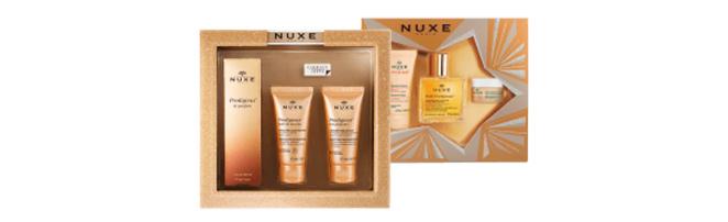 Coffret Best–Sellers y Coffret Prodigieux Le Parfum de Nuxe