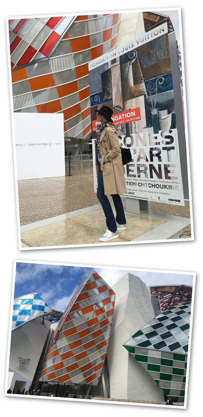 Fundación Louis Vuitton de Paris. Está un poco alejada de la zona céntrica, pero merece una visita por su espectacular edificio, obra del arquitecto Frank Gehry y su interesante colección permanente y exposiciones temporales de Arte Contemporáneo.
