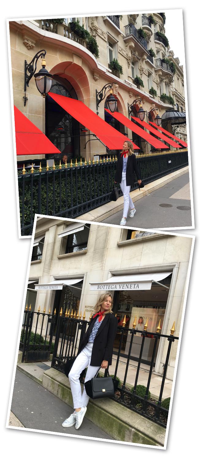 """Avenue Montaigne, ideal para pasear y hacer un poco de """"window shopping"""", ya que las tiendas son prohibitivas!!En esta elegante calle es imprescindible pararse a almorzar en el restaurante L´Avenuey luego tomar un té en el Bar del Hotel Plaza Athénée."""