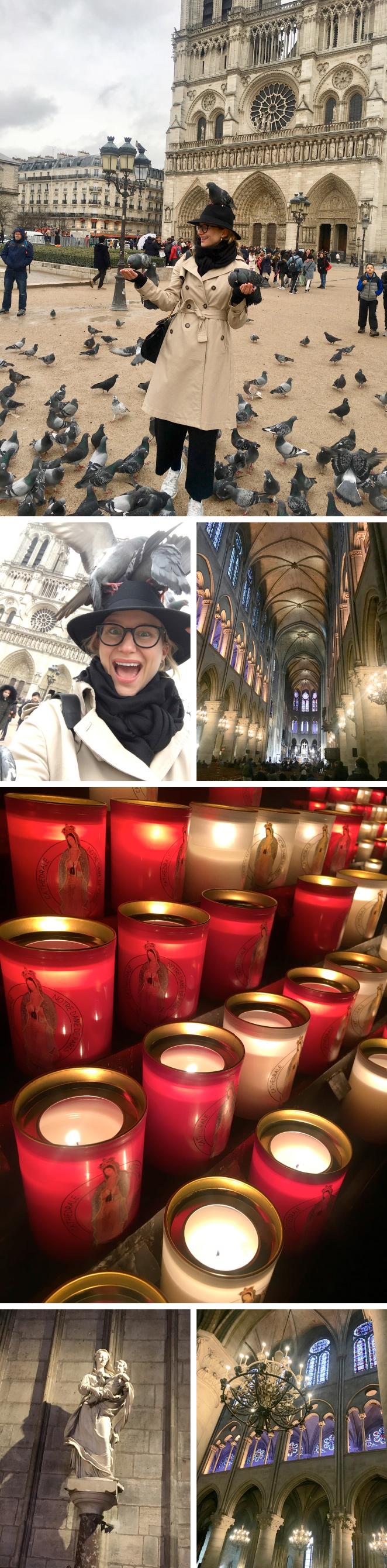 A la Catedral de Notre Dame me gusta ir si estoy el domingo en la ciudad para ir a Misa porque allí se celebran con una solemnidad inigualable. Se me pasa volando admirando la belleza interior de su arquitectura y sus preciosas vidrieras.