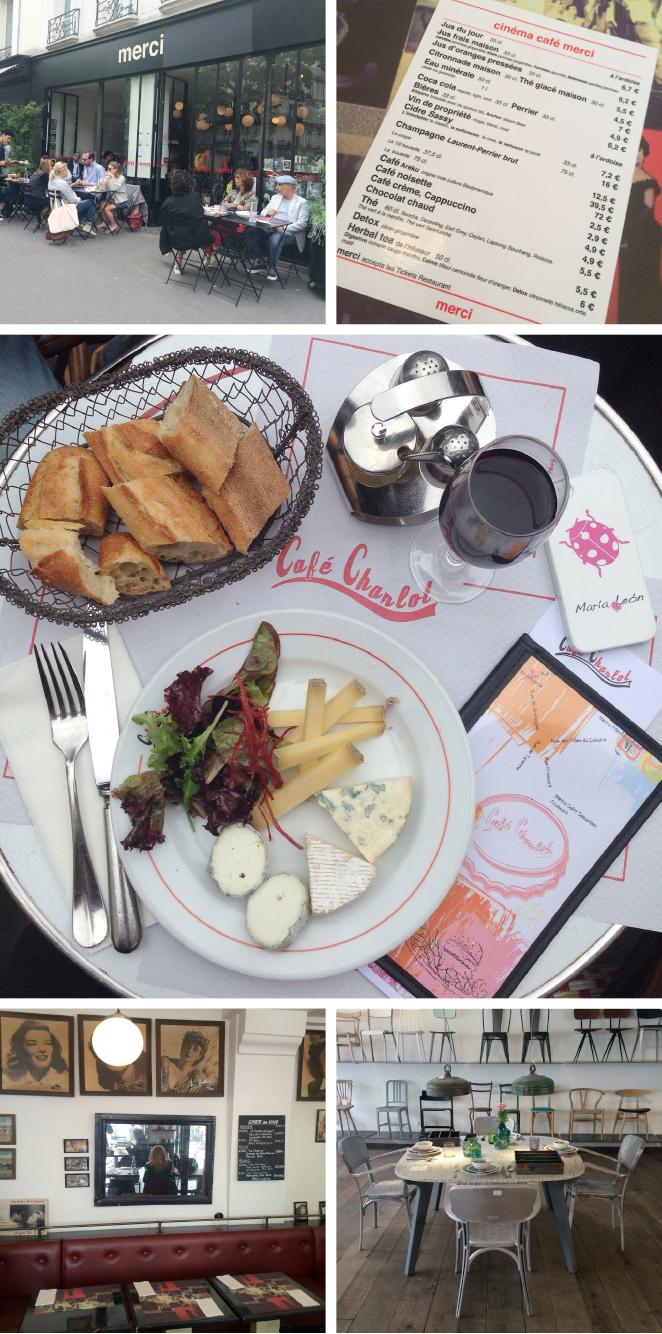 10.Le Marais es otro barrio de París que me encanta. Aquí os recomiendo el clásico Café Charlot, la tienda Merci y su restaurante Le Cinéma Café de comida muy saludable.