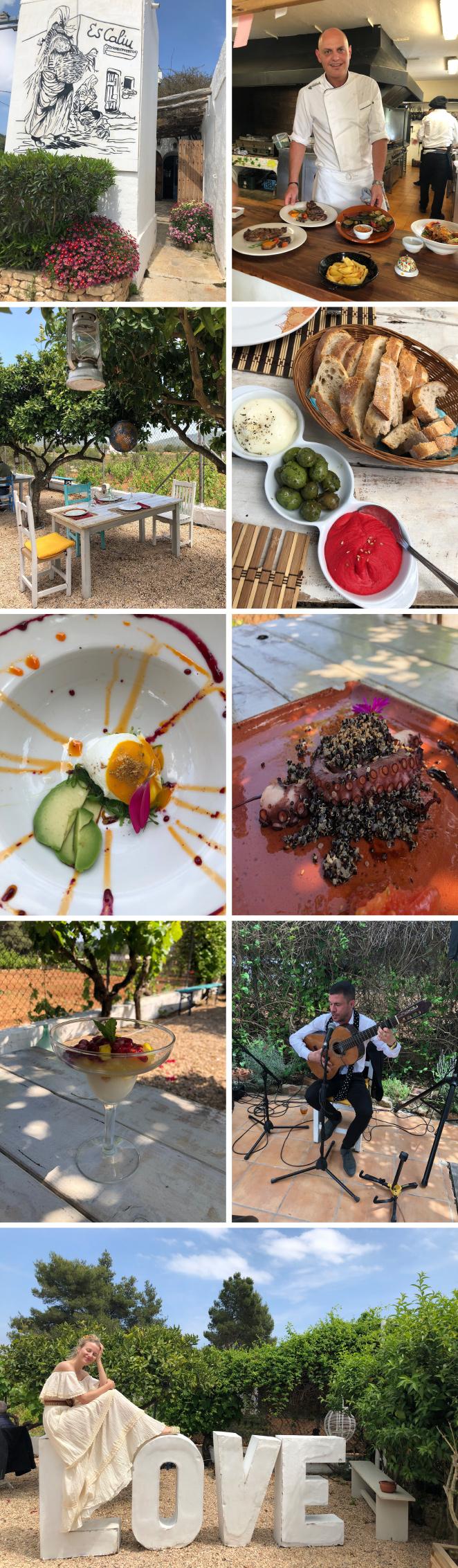 Escaliu Ibiza. Otro restaurante con mucho encanto para disfrutar de auténtica comida payesa y donde los fines de semana ponen música en vivo