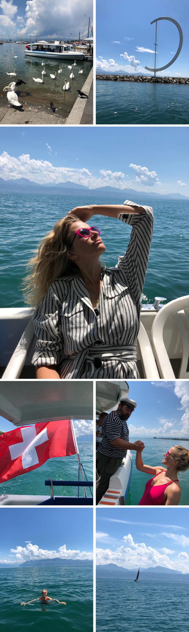 Y para completar el día, nada como un agradable paseo en barco por el lago con baño refrescante incluido!!