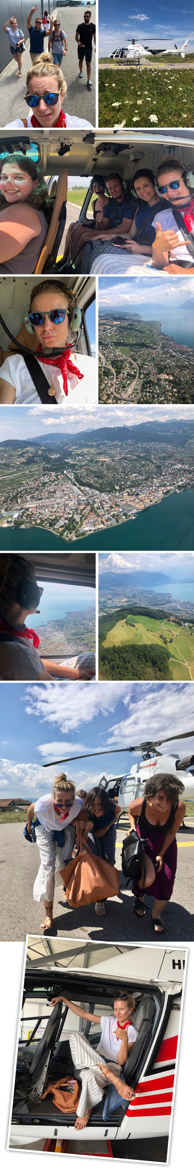 Como broche final, nada como admirar el encanto de la ciudad desde el aire y de los paisajes que la rodean y para eso, tuve que armarme de valor y quitarme el miedo a montar en helicóptero, ya que la experiencia merecía la pena!!Los periplos los organizan Heli-Lausanney lo hacen de maravilla.