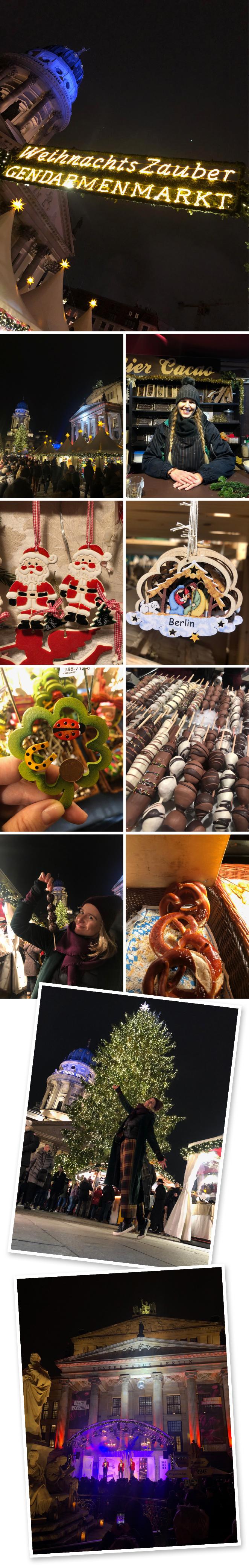 Precisamente en esa plaza se organiza cada Navidad uno de los mercados más populares de la ciudad y allí me fui para descubrirlo. La cantidad de gente que había concentrada en ese lugar hacía casi imposible el poder moverte relajadamente por sus callejuelas pero, aún así, me encantó descubrir sus puestecitos de comida típica (muero por los pretzels y las fresas con chocolate) y de productos de artesanía (por cierto, carísimos), además de los conciertos en vivo de música navideña que había de manera continua y que amenizaban el entorno. Gastronomía, Música, Artesanía y Navidad, una mezcla con mucha magia.