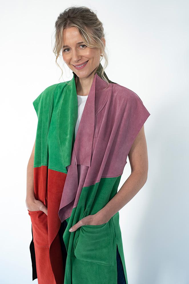 Llega la colección María de Leon Cápsula - Chaqueta multicolor