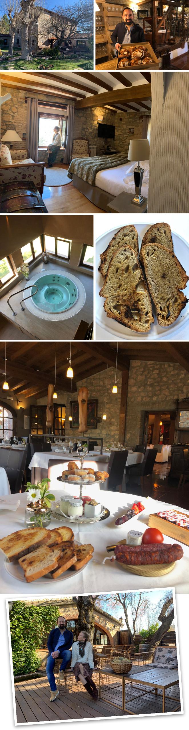El Molino de Alcuneza en Sigüenza (Guadalajara), un precioso Relais & Chateaux que cuenta con con un fabuloso restaurante regentado por Samuel Moreno Gordo (1 estrella Michelín).