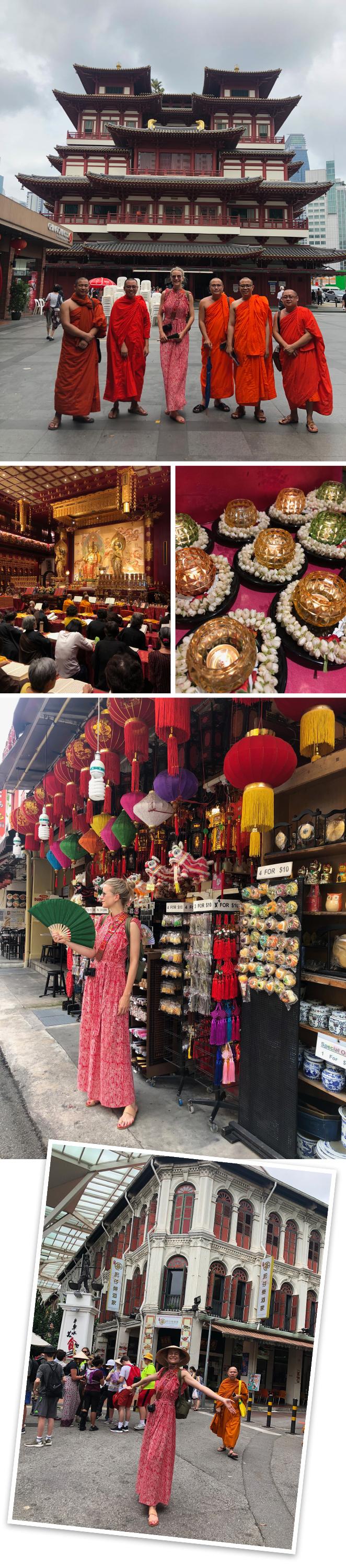 Barrio Chino. Este barrio que tiene gran ambiente y está repleto de tiendas y restaurantes fue fundado por los primeros colonos chinos que llegaron a la ciudad allá por 1821. Aquí no os podéis perder la visita al templo budista famoso por acoger uno diente que perteneció a Buda.
